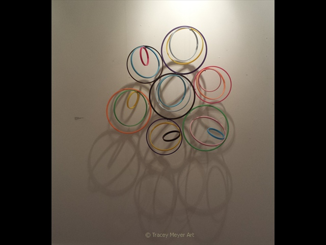 Arranged Hoops,  27 x 27 x 6, SOLD
